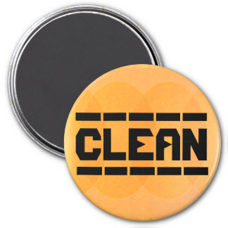 Los platos son limpios imán redondo 7 cm