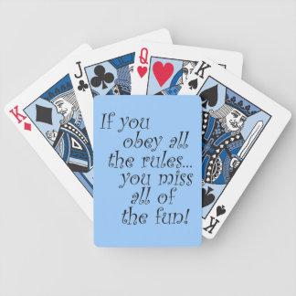 Los playingcards divertidos de las citas humor la  baraja cartas de poker