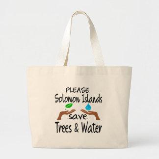 Los PLZ Solomon Island ahorran el árbol y riegan Bolsa Lienzo