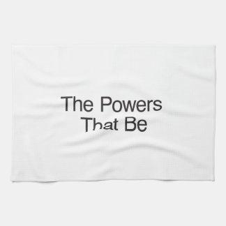 Los poderes - que - sea toalla de mano