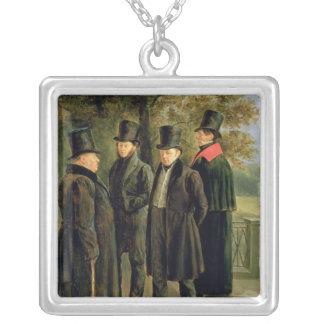 Los poetas Aleksandr Pushkin Collar Plateado