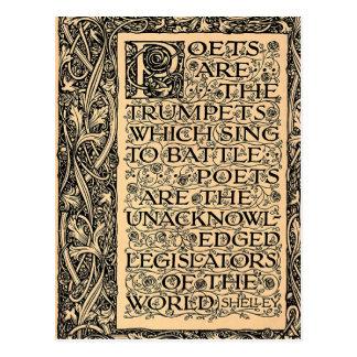 Los poetas son - Shelley Tarjetas Postales