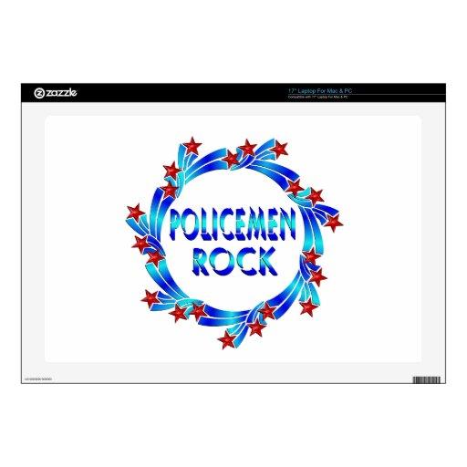 Los policías oscilan las estrellas rojas 43,2cm portátil calcomanía