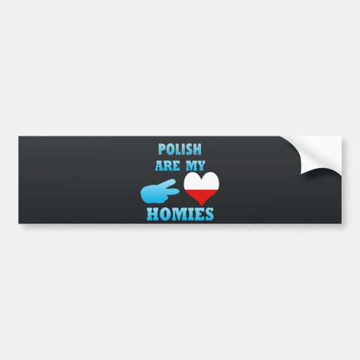 los polishs son mi Homies Etiqueta De Parachoque
