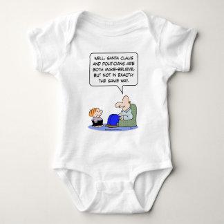 los políticos de Papá Noel hacen para creer Body Para Bebé