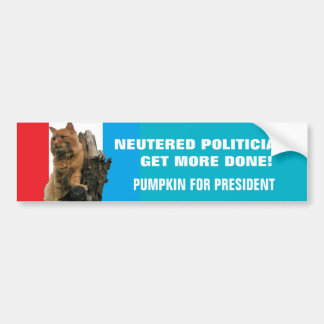 Los políticos neutralizados consiguen calabaza pegatina para auto