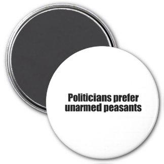 Los políticos prefieren a los presidentes desarmad imán redondo 7 cm
