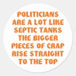 Los políticos tienen gusto de los tanques sépticos etiqueta