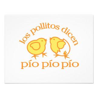 Los Pollitos Dicen notecards Announcements