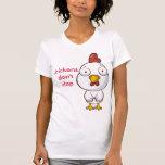 los pollos no aplauden camisetas