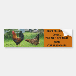 los pollos, no siguen al cierre… Usted puede conse Pegatina Para Auto
