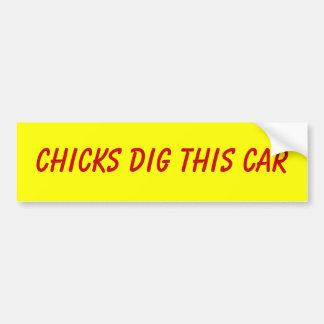 Los polluelos cavan a esta pegatina para el parach pegatina para auto