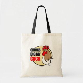 Los polluelos cavan mi gallo bolsas de mano