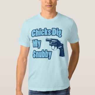 Los polluelos cavan mi Snubby - azul Polera