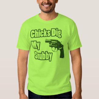 Los polluelos cavan mi Snubby - verde Polera