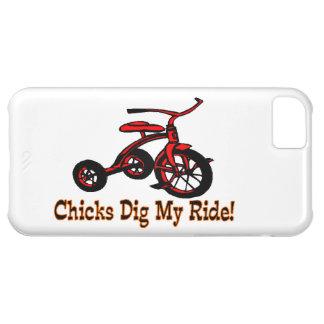 Los polluelos cavan mi triciclo del paseo funda para iPhone 5C
