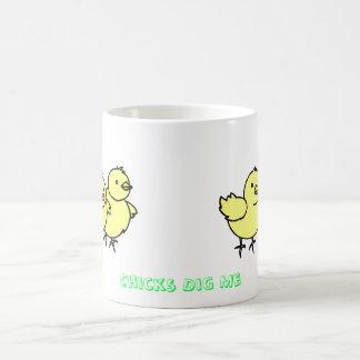 Los polluelos de la taza me cavan