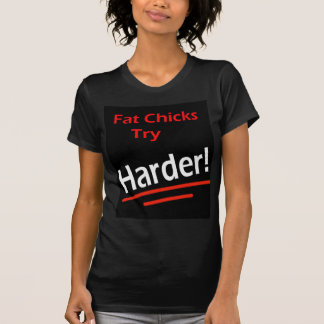 Los polluelos gordos intentan más difícilmente camisas