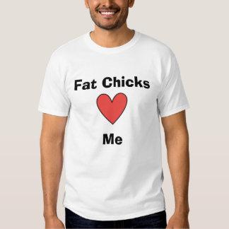 Los polluelos gordos me aman playeras