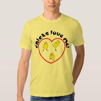 Los polluelos me aman playeras