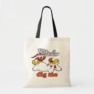 Los polluelos me cavan bolsas lienzo