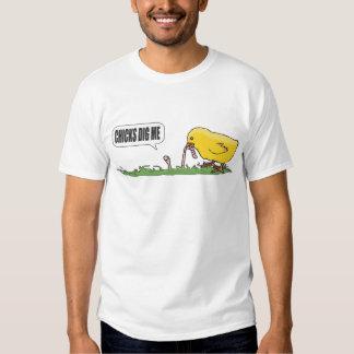 Los polluelos me cavan camiseta playeras