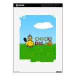 ¡Los polluelos me cavan! iPad 3 Pegatina Skin