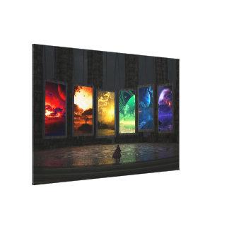 Los portales envolvieron la lona lienzo envuelto para galerias