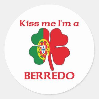 Los portugueses personalizados me besan que soy Be Pegatina Redonda