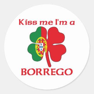 Los portugueses personalizados me besan que soy Bo Etiquetas Redondas