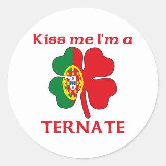 Los portugueses personalizados me besan que soy pegatinas redondas