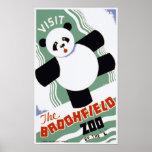 Los posters de WPA del vintage de la panda del par