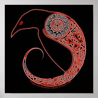 Los posters del Celtic del cuervo de Morrigan