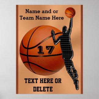 Los posters personalizados del baloncesto eligen póster