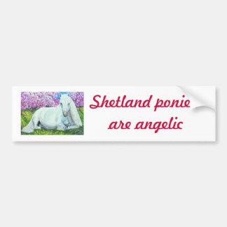 , Los potros de Shetland son angelicales Pegatina Para Auto