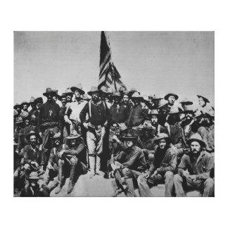Los potros Teddy Roosevelt Rough Riders 1898 del Lienzo Envuelto Para Galerías