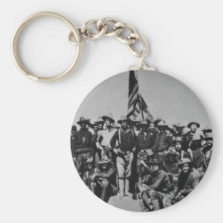 Los potros Teddy Roosevelt Rough Riders 1898 del Llavero Redondo Tipo Pin