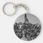 Los potros Teddy Roosevelt Rough Riders 1898 del p Llavero Redondo Tipo Pin