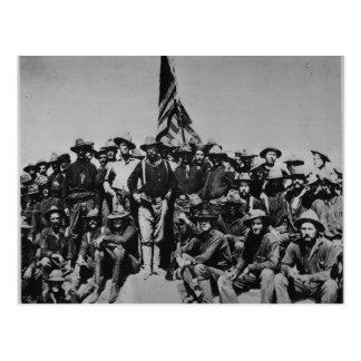 Los potros Teddy Roosevelt Rough Riders 1898 del p Tarjetas Postales