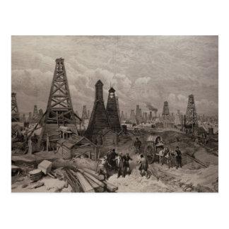 Los pozos de petróleo de petróleo en Baku en el ca Postal