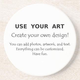 Los prácticos de costa del diseño usted mismo util posavasos diseño