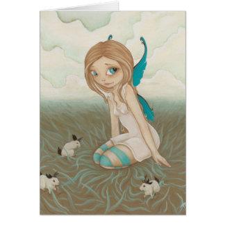 Los prados dulces - coloréeme jackalope de la hada tarjeta de felicitación