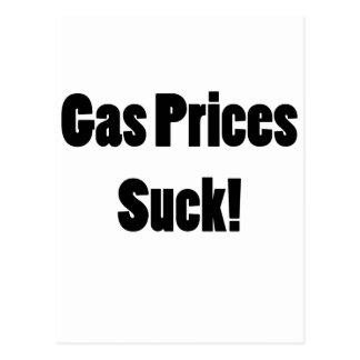¡Los precios de la gasolina chupan! Postal