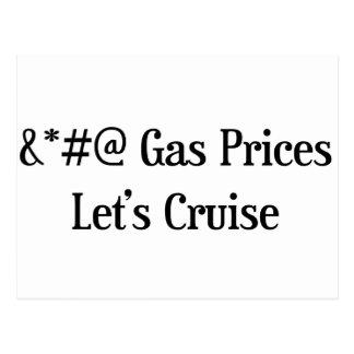 Los precios de la gasolina dejan travesía tarjeta postal