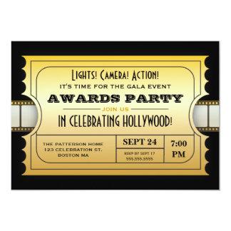Los premios anuales de la película van de fiesta invitación 12,7 x 17,8 cm