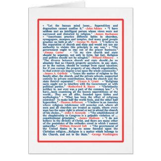 Los presidentes en la religión tarjeta de felicitación
