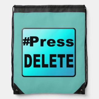 Los #Press SUPRIMEN en un CCB del lazo del botón Mochila