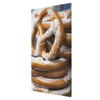 Los pretzeles enormes del vendedor ambulante de Nu Impresion En Lona