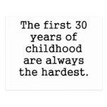 Los primeros 30 años de niñez postales