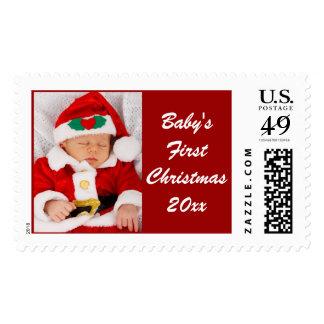 Los primeros sellos de la foto del navidad de Baby